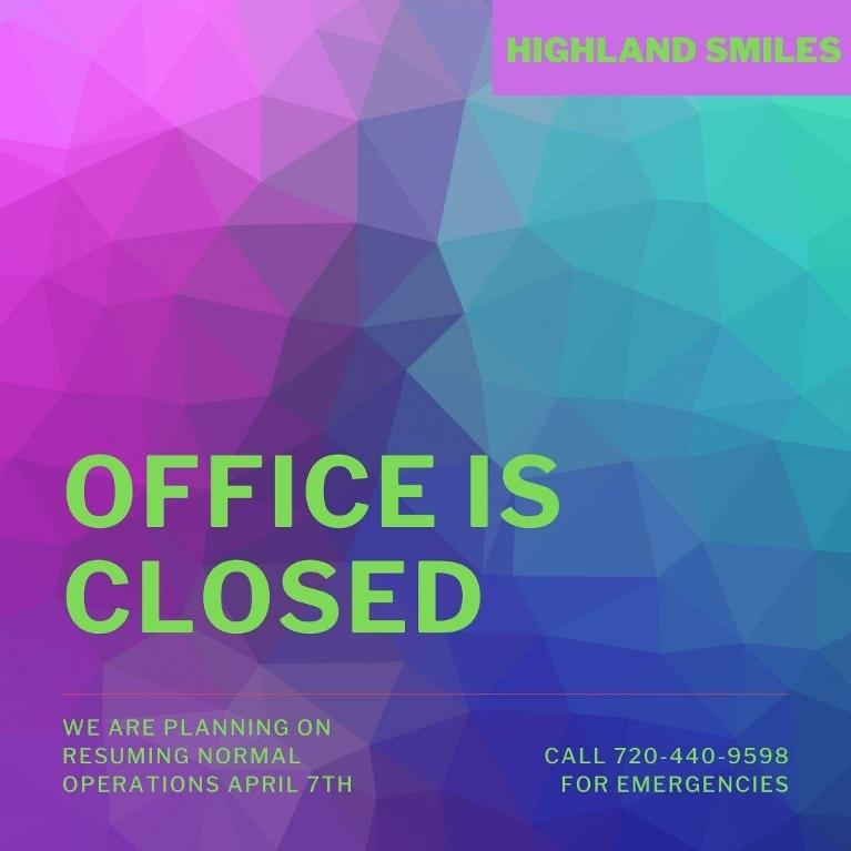 Photo that says the office is closed